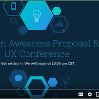 Webinar: Writing an Awesome Proposal for a UX Conference